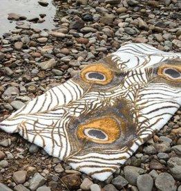Habidecor Bath carpet: PEACOCK 90% GIZA - Long threads of Egyptian cotton / 5% acrylic / 5% lurex 2200 gr / m2