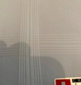 Lehner Zakdoek heren wit jacquard per 6 stuks , 43:43 cm