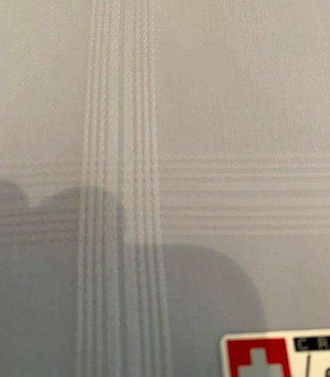 Lehner Zakdoek heren wit jacquard per 6 stuks , 43/43 cm -