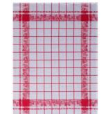 Le jacquard francais Keukenhanddoek aardbeien  60/80  (  Per 4  stuks ) 100 % katoen )