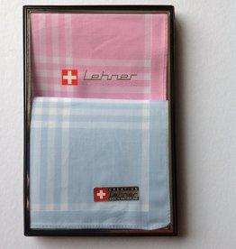Lehner Zakdoeken voor dames: 30/30 cm  (per 2  stuks) ( Gestikt )