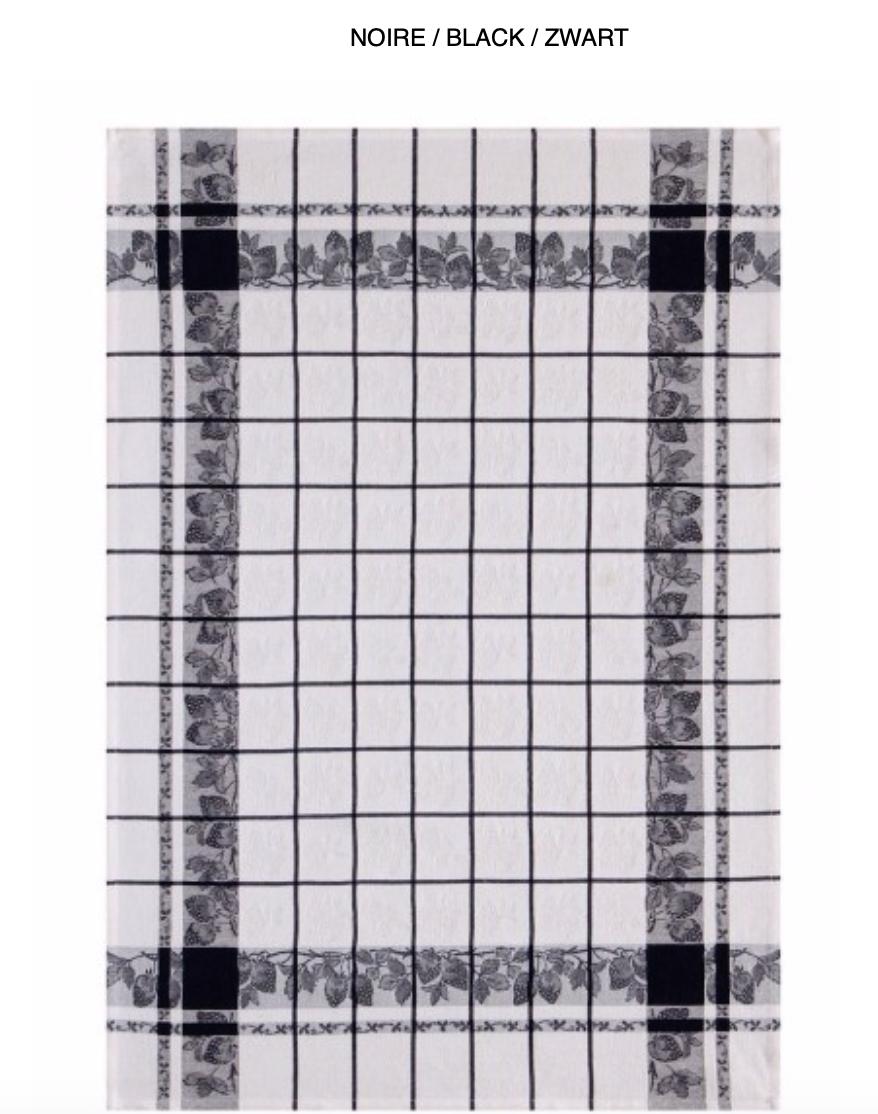 Kitchen towel strawberries 60/80 (Per 4 pieces) 100% cotton) - Copy