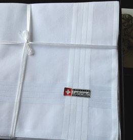 Lehner Handkerchiefs Men 48/48 cm (Per 6 pieces) - Swiss cotton (Stitched)