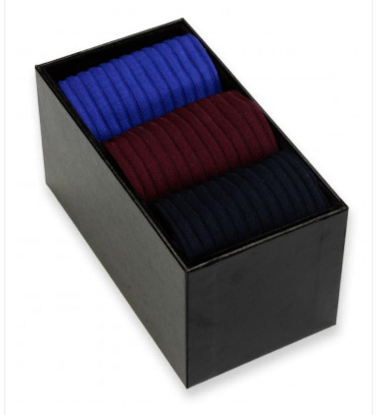 Pantherella Sokken heren  Danvers - Fil d'Ecosse - 3-paar in een doos 'Choose Your Colors' geschenkdoos