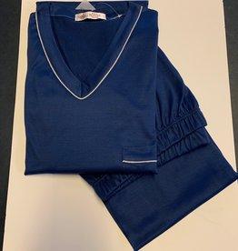 Piet Nollet Pajama Lang (Jersey fil d'ecosse) V model (1 x R.) (100% cotton)