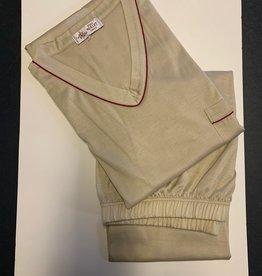 Piet Nollet Pajama SHORT (Jersey fil d'ecosse) V - model (1 x R.) (100% cotton) - Copy