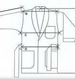 Piet Nollet Kort kamerjasje ( Kort jasje )  : van katoenfluweel met contrasterende 100% satijnen zijden gewatteerde voering en riem. -