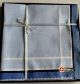Lehner Zakdoeken Heren 43/43  cm ( Per 6 stuks )- Zwitsers katoen  ( Hand gerold )