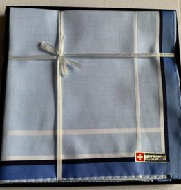 Lehner Handkerchiefs Men 43/43 cm (Per 6 pieces) - Swiss cotton (Hand rolled)