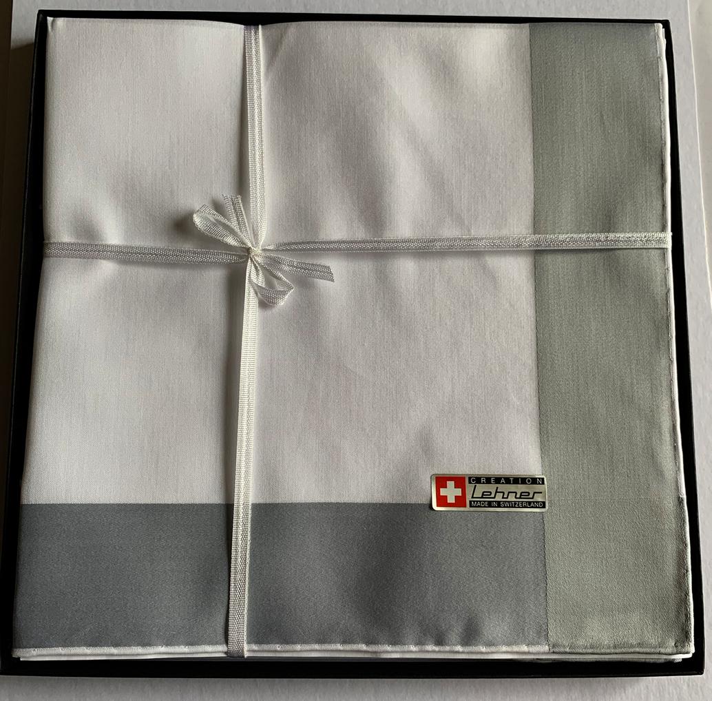 Lehner Herenzakdoeken 48/48 cm, Zwitsers katoen RS 65005 per 6 stuks