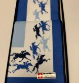 Lehner Zakdoek heren  per 2 stuks ( paarden ) , 43/43 cm /1 doos