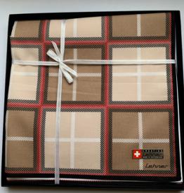 Lehner Handkerchiefs Men 43/43 cm - Swiss cotton (Per 6 pieces) (Stitched)