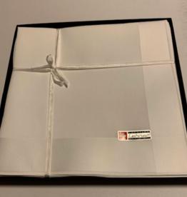 Lehner Heren zakdoeken per stuk 43/43 cm  ( Per 6 stuks )( Gestikt )
