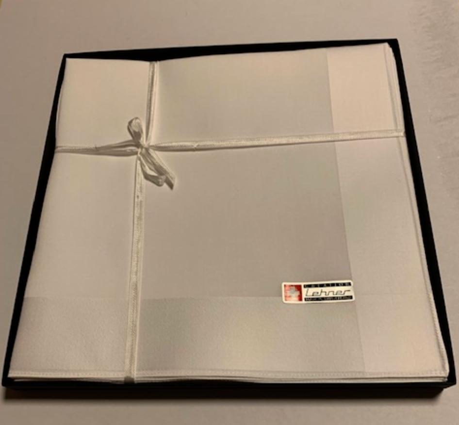 Lehner Heren zakdoeken per stuk 43/43 cm ( Per 6 stuks ) ( Gestikt )