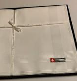 Lehner Heren zakdoeken per stuk 43/43 cm ( Per 6 stuks ) ( Gestikt )  Jacquard
