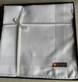 Lehner Heren zakdoeken per stuk 43/43 cm ( Per 6 stuks ) (  Handgerold  )  Jacquard
