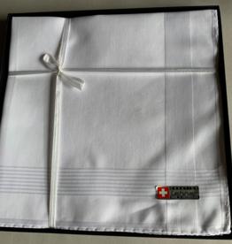 Lehner Men's handkerchiefs per piece 43/43 cm (Per 6 pieces) (Hand-rolled) Jacquard