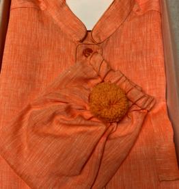 Piet Nollet Nightdress with nightcap for men (100% linen) with pocket -