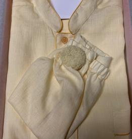 Piet Nollet Nightdress with nightcap for men (100% linen) with pocket