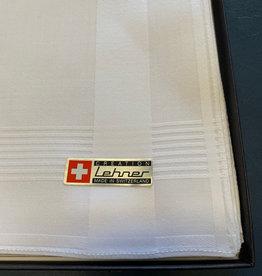 Lehner Heren zakdoeken per stuk 43/43 cm ( Gestikt ) ( Per 6 stuks )