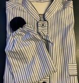Piet Nollet Nachthemd  katoen voor  HEREN met slaapmuts  Topkwaliteit Egyptisch  katoen  ( 2 X R.)