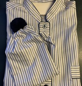 Piet Nollet Cotton nightdress for MEN with sleeping cap Top quality Egyptian cotton (2 X R.)