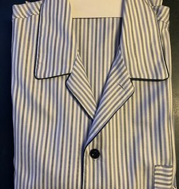 Piet Nollet Pajamas, Cotton, long for MEN, 3 pockets / Egyptian cotton (with extra button at the top)