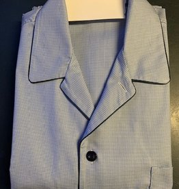 Piet Nollet Pyjama , Katoen ,  lang voor HEREN , 3 zakjes / Egyptische katoen  ( met knoopje extra boven )
