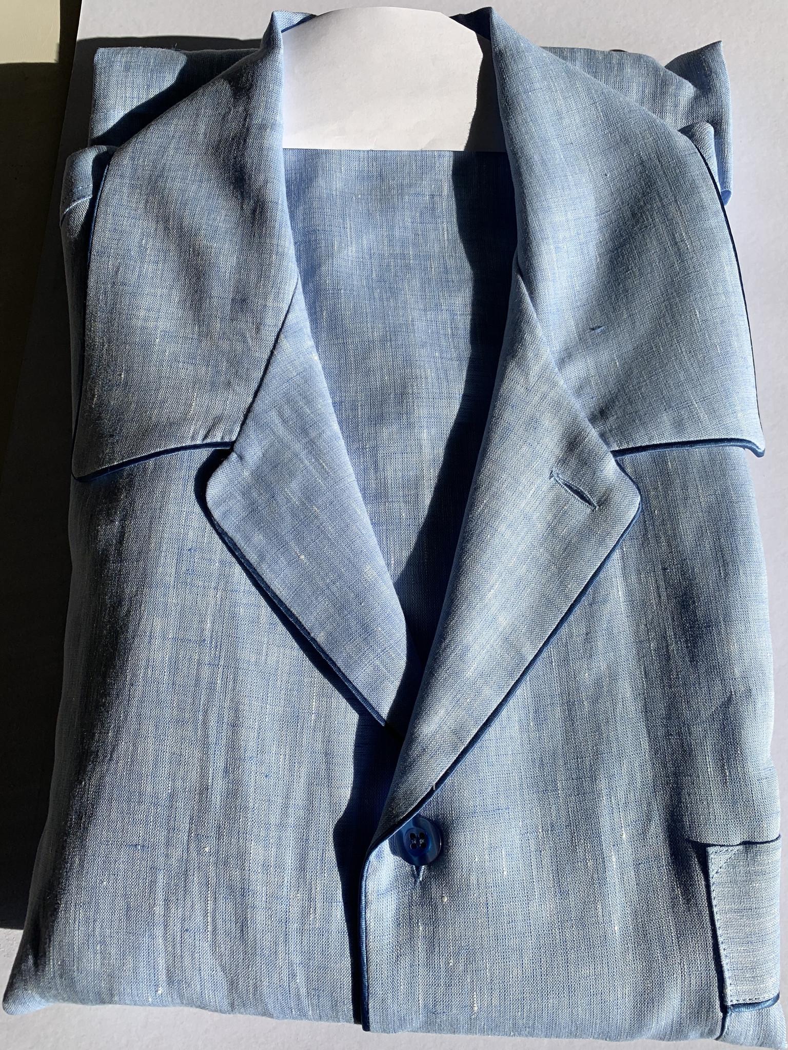 Piet Nollet Pyjama voor heren / LANG / 100 % Linnen / Topkwaliteit