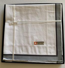 Lehner Handkerchiefs Men 43/43 cm (Per 6 pieces) - Swiss cotton (Hand rolled) - Copy