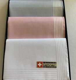 Lehner Handkerchiefs for ladies: 30/30 cm (per 3 pieces) Hand-rolled