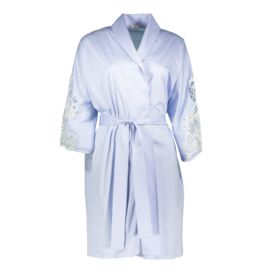 Zimmerli 286 LADIES Short dressing gown in 100% SEA ISLAND cotton