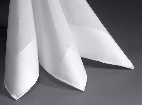 Lehner Men's handkerchiefs per piece 43/43 cm (Hand-rolled)