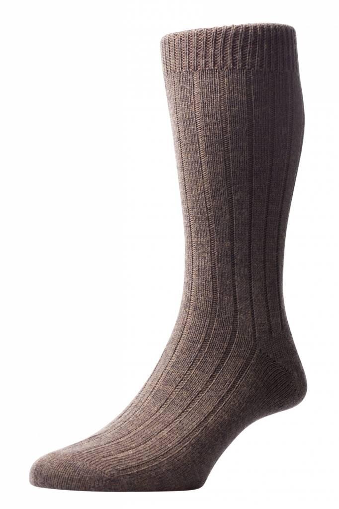 Pantherella Socks men short Packington ~ 5x1 Rib - 70% Merino Wool 30% Nylon (Sold by 3 pairs) slightly thicker sock