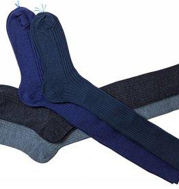 Bresciani Chaussettes courtes pour hommes - coton - fil d'ecosse (Par 6 pièces)