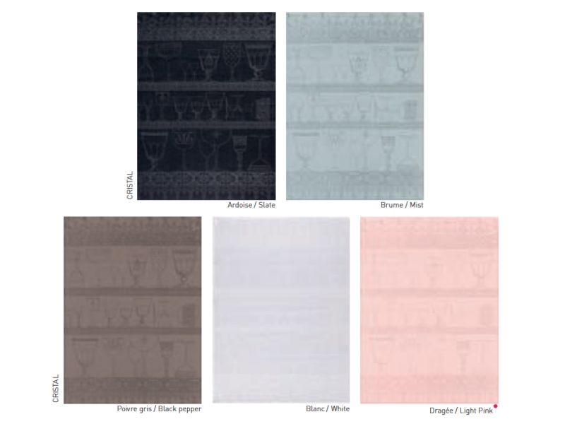 Le jacquard francais Kitchen towels white linen, 60/80 cm (Per 4 pieces)
