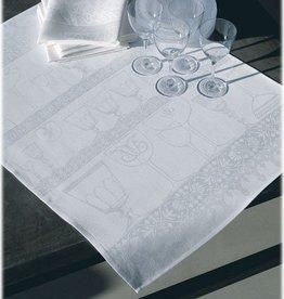 Le jacquard francais Serviettes de cuisine en lin blanc 60/80 cm (par 4 pièces)
