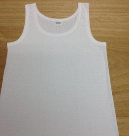 Navanda Chemise (blanche) sans manches (modèle classique) (100 % coton) AK. par 3 pièces