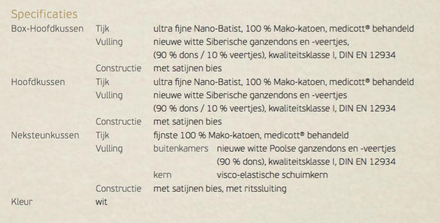 Brinkhaus Box-hoofdkussen medium CHALET 65x65cm