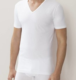 Zimmerli 172 Pur confort Shirt VN SS 92% coton, 8% élasthanne, jersey simple