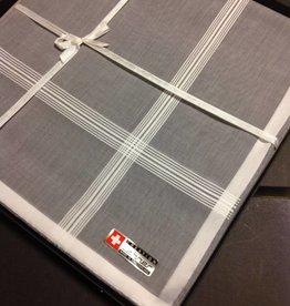 Lehner Handkerchiefs Men 48/48 cm - Swiss cotton (Hand rolled) (Purchase per 6 pieces)