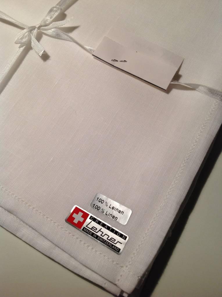 Lehner Zakdoeken Heren 45 / 45 cm - 100 % Linnen ( Handgerold )