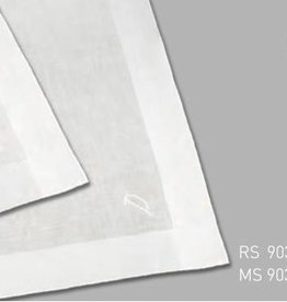 Lehner Handkerchiefs Men (1 point embroidered) - Swiss cotton (Hand Rolled) Per 3 pieces