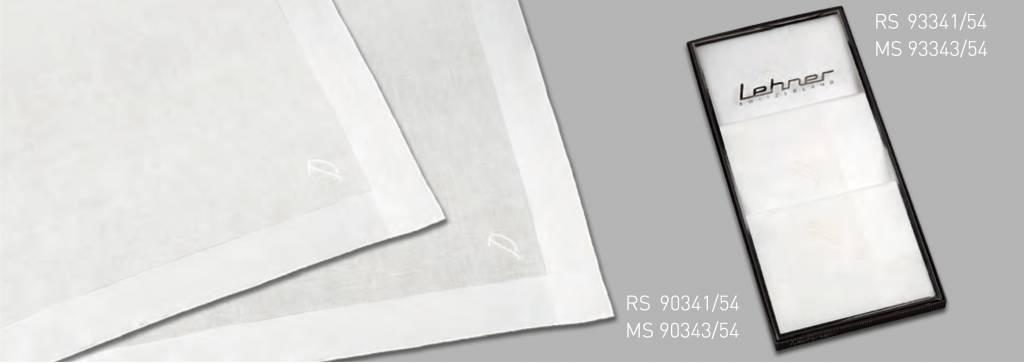 Lehner Zakdoeken Heren ( met 1 letter geborduurd ) - Zwitsers katoen ( Handgerold ) Per 3 stuks