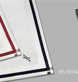Lehner Handkerchiefs Men - Swiss cotton with embroidered first letter (stitched) Per 3 pieces