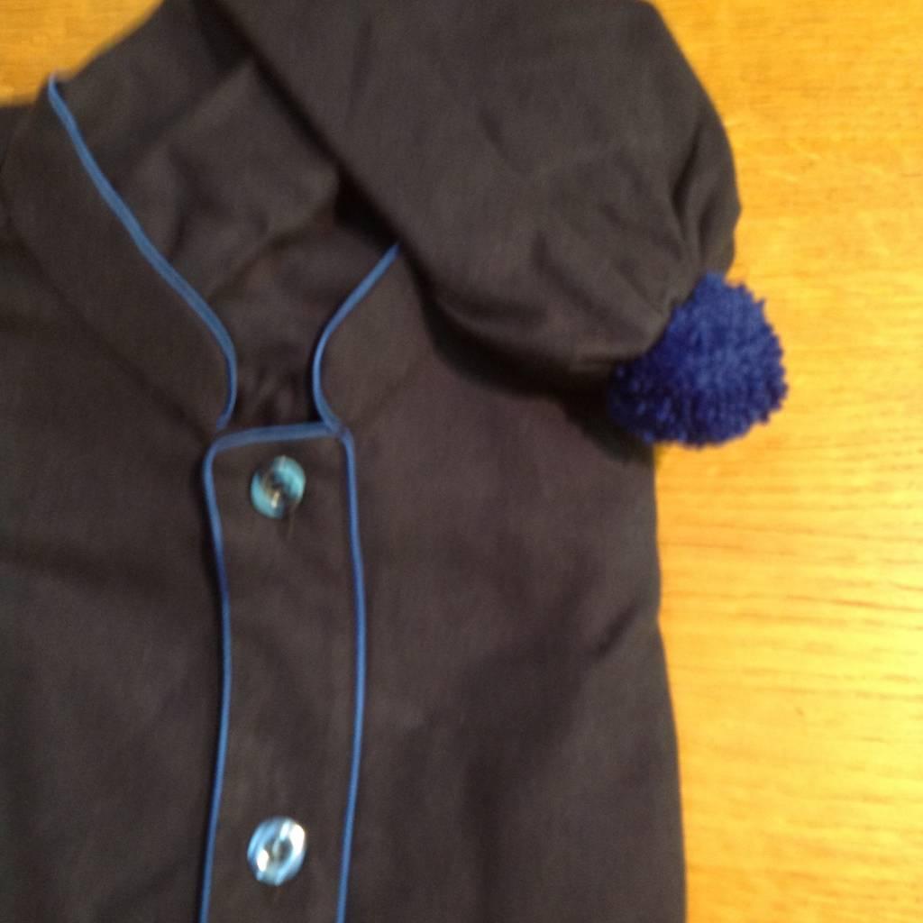 Piet Nollet Nachthemd met slaapmuts voor mannen in katoen flanelle