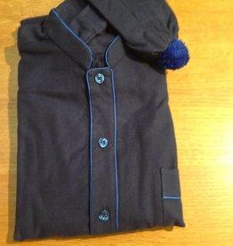 Piet Nollet Nightgown with sleep cap for men in cotton flannel