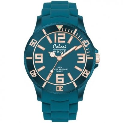 Colori Colori horloge Classic Chic 5-COL134 blauw