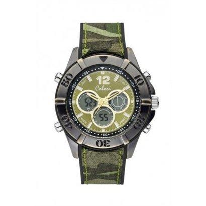 Colori Colori Horloge Timber Legergroen