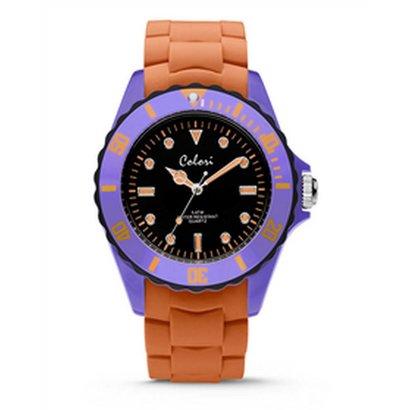 Colori Colori Horloge Colour Combo lila/oranje